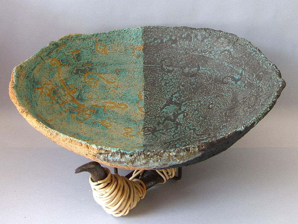 Seafoam Green Vessel by Alenka Sekne
