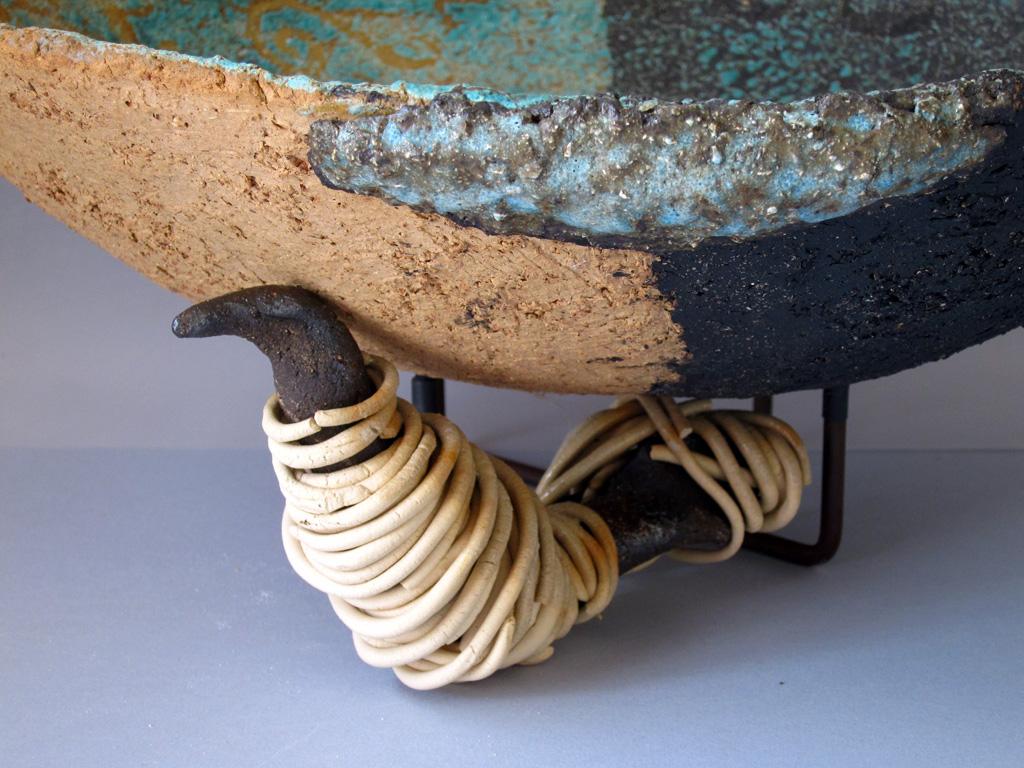 Seafoam Green vessel (detail) by Alenka Sekne